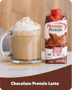 Big goals, shameless chocolate obsession, no regrets. Made with a Chocolate flavored Premier Protein shake. Protein Shake Recipes, Smoothie Recipes, Low Carb Recipes, Drink Recipes, Healthy Smoothies, Healthy Drinks, Healthy Snacks, Yummy Drinks, Yummy Food