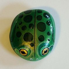 Frog  Painted Rock Critter by aeirvine on Etsy