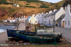 Stock Photo : Small fishing village of Pennan, setting of the movie Local Hero, north coast, Aberdeenshire, Scotland, United Kingdom, Europe