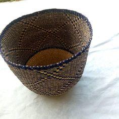 African basket/Ghana bolga market baskets/ Ghana woven home baskets decor/Storage baskets/organizing basket/baskets/woven storage baske/ Old Baskets, Woven Baskets, Baskets On Wall, Basket Weaving, Handmade Market, Handmade Table, Fruit Storage, Storage Baskets, Winter Bedroom Decor