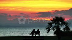 sunset and the couple - Stock Footage | by okanakdeniz