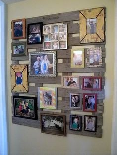 I finally hung up my pallet and got the pictures hung. I love it. I had to laugh at my mom, she just could not see my vision of hanging a pa...