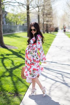This floral maternity dress would be perfect for a garden party!