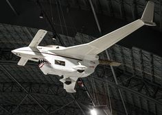 """Long-EZ """"Borealis"""" in the Research & Development Gallery at the National Museum of the U. Air Force on December (U. Ride The Lightning, Model Airplanes, National Museum, Fighter Jets, Aviation, Composition, Scale, Aircraft, Innovative Companies"""
