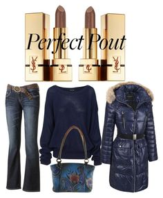 """""""Street Style.....perfect pout contest"""" by im-karla-with-a-k ❤ liked on Polyvore featuring Wallflower, Andrew Marc, Anuschka and Yves Saint Laurent"""