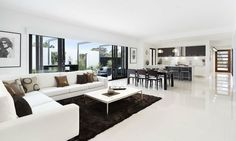 open plan kitchen dining lounge - Google Search