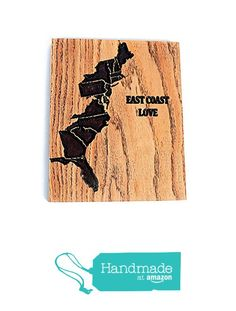 EAST COAST Love Wood Sign (8 x 10 inch Red Oak, Ready to Hang) United States East Coast Map Wall Art from Ink the Print http://www.amazon.com/dp/B01CIK423K/ref=hnd_sw_r_pi_dp_Zq23wb0K2KDJM #handmadeatamazon