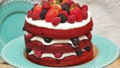 Naked Cake de Red Velvet y Frutos Rojos