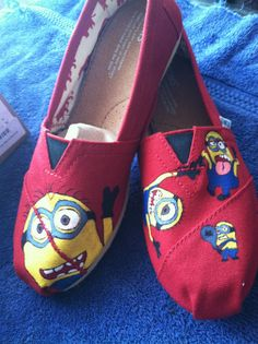 Despicable Me Minion TOMS shoes on Etsy, $60.00