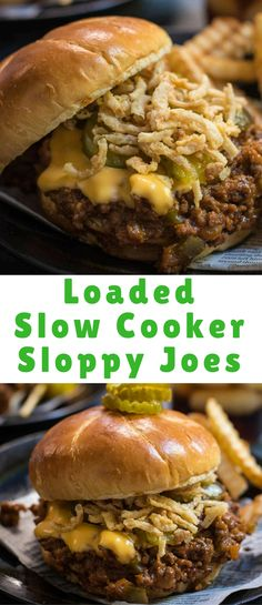 Sloppy joes: not just for kids anymore. These Loaded Slow Cooker Sloppy Joes will be a hit with the whole family! Sloppy joes: not just for kids anymore. These Loaded Slow Cooker Sloppy Joes will be a hit with the whole family! Kids Cooking Recipes, Crock Pot Cooking, Grilling Recipes, Fish Recipes, Slow Cooker Recipes, Kids Meals, Crockpot Recipes, Easy Meals, Ground Beef Recipes