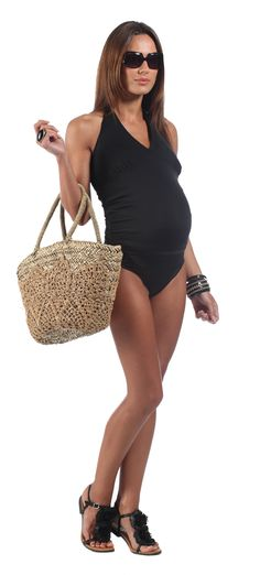 Perfect maternity mum to be tankini for holiday swimwear