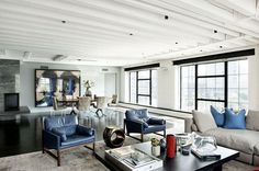 Stunning modern loft with pops of color in TriBeCa