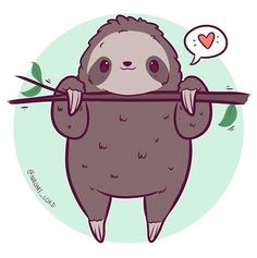 animals cartoon Doodled up a little sloth they're basically my spirit animal right now, the h. Doodled up a little sloth they're basically my spirit animal right now, the heat makes me such a lump😂😂 Cute Kawaii Animals, Cute Animal Drawings Kawaii, Cute Drawings, Cute Cartoon Animals, Kawaii Doodles, Kawaii Art, Kawaii Chibi, Tier Doodles, Sloth Drawing