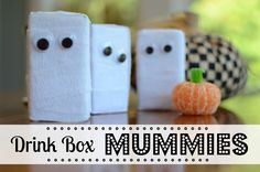 Halloween Treats: Drink Box Mummies and 4 other fun (and EASY!) treats by @jennyonthespot