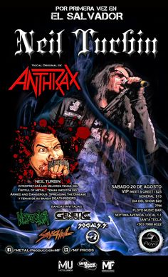 Neil Turbin The Metal Beast Is Back Tour Latin America 2016 Santa Tecla, El…