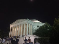 The front of the Jefferson memorial.