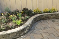 Raised garden bed, garden seat wall