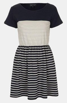 Colorblock + Stripes = Awesome skater dress.