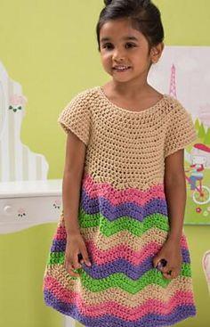 Children's Chevron Dress by Lorene Haythorn Eppolite- Cre8tion Crochet