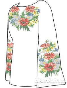 Домотканая белая женская вышиванка СВЖП-19