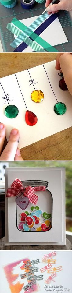 20 Handmade Card Ideas and Tutorials 2019 Handgemachte Karte Ideen und Tutorials Source by . Xmas Cards, Diy Cards, Homemade Gifts, Homemade Cards, Craft Gifts, Diy Gifts, Unique Gifts, Holiday Crafts, Christmas Crafts