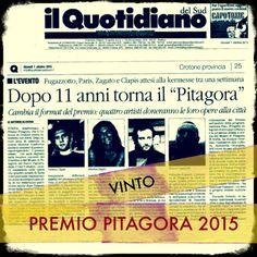 Vinto Premio Internazionale d'arte  PITAGORA 2015 | Contemporary art |