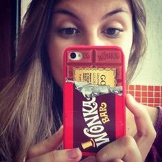 Wonka chocolate iphone 5 case,iPhone 4 Case, iPhone 4s case , cover skin case hard / rubber case personalized , Phone case