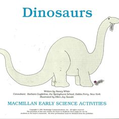 Dinosaurs MacMillan Early Science Activities Work Sheet History Dino Species  #MacMillan #WorkSheets