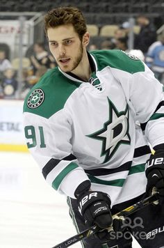 Dallas Stars center Tyler Seguin (91) on the ice before playing the Pittsburgh Penguins at the CONSOL Energy Center.