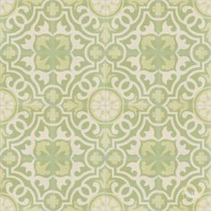I picture a sunny kitchen or welcoming entry floor... Mosaic House; Versailles C35-3-44 - moroccan cement tile