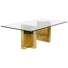 Pair of Brass-Wrapped Milo Baughman Pedestal Table Bases, 1970s | From a unique collection of antique and modern pedestals at https://www.1stdibs.com/furniture/tables/pedestals/