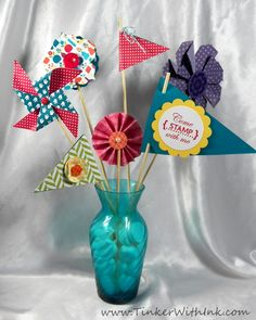 stampin up mds invitations | Here's the rest of that adorable pennant bouquet we made at the demo ...
