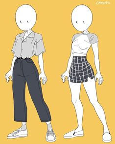 Aesthetic clothes or outfit this took so long but i enjoy making it, i hope you like it owo comment for more anatomy, poses or clothes… Fashion Design Drawings, Fashion Sketches, Anime Outfits, Cute Outfits, Casual Outfits, Diy Outfits, Cartoon Outfits, Summer Outfits, Kleidung Design