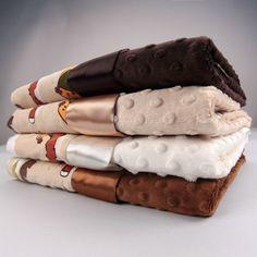Jungle Fever Tan w/ Dot Velour Blanket - Boys Blankets - Blankets