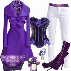 Love this color purple outfit