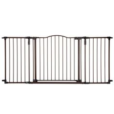 "North States Deluxe Décor Wall Mounted Pet Gate Matte Bronze 38.3"" - 72"" x 30"""