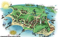Map of the island. Morro de Sao Paulo, Brasil. Aka Heaven on Earth.