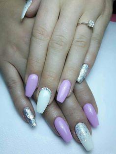 Lilla argento glitter  strass