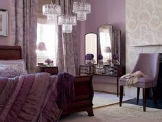 Purple and grey bedroom ideas