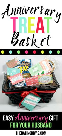 Free printable loves notes for a cute DIY Anniversary gift basket for the hubby. www.TheDatingDivas.com