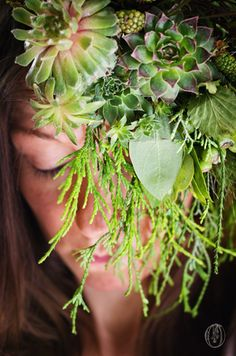 Woodland-Whimsical-Bohemian-Natural-Organic-Green-Succulent-Evergreen-Berry-Fern-Floral-Hat-Floral-Hairpiece-Floral-Crown-Floral-Veil-Oleander-NJ-Bucks-Couty-PA-Wedding-Florist-Event-Floral-Design