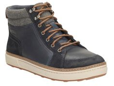 Clarks Lorsen Top Navy WLined Lea
