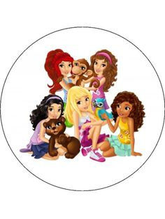 12 or 30 cupcake toppers printed on icing or rice paper with edible ink, with a range of character images from Lego Friends. All the gang are featured - Andrea Lego Friends Cake, Lego Friends Birthday, Lego Friends Party, Lego Birthday, Bolo Lego, Lego Girls, Cupcake Images, Old And Teen, Girl Cupcakes