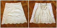 How to transform skirt to blouse