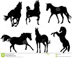 Image result for horse silhouette images