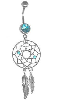 Carefree Lightweight Dream Catcher Belly Ring too cute <3