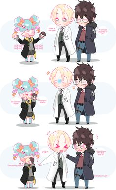 Chibi Drarry and the Hufflepuff by Cremebunny on DeviantArt