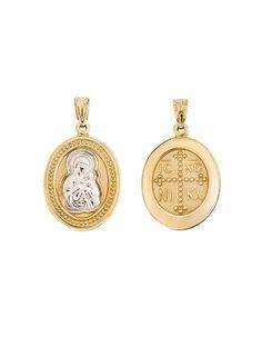 Παναγίτσα Κωνσταντινάτο Χρυσό 14Κ Αναφορά 019357 Φυλακτό μενταγιόν για ένα  νεογέννητο κατασκευασμένο από Χρυσό 14Κ σε κίτρινο και σε λευκό χρώμα που  μπορεί ... eea3ffee907