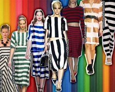 We Break Down the Top Trends from the Spring 2013 Runways: Big, bold stripes are everywhere!