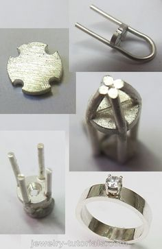 Quick Collet Making - Free Tutorial Some instances and designs require a quick and easy wire prong collet for setting round gemstones in. This free tutorial on making this type of wire prong collet is helpful when you under time constraints. #metalsmith #freetutorial #jewelrymaking metalsmith, workbench, collet making, prong setting, claw setting
